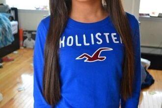 sweater bleu hollister