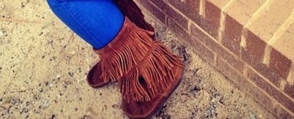 shoes brown shoes fringe tan fringe booties