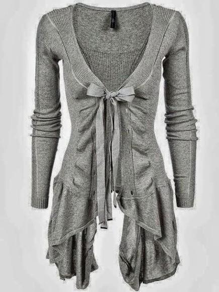 cardigan grey girly simple spring