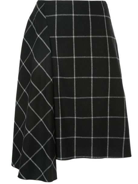 Astraet skirt women draped black grid