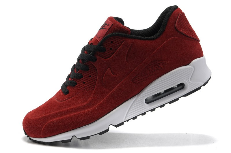 Nike Air Max 90 VT Burgundy/White Mens Shoes,Mens Nike Air Max 90 VT