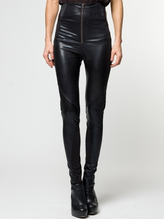 pants wetlook leggings jeggings skinny high waisted black trendy religion