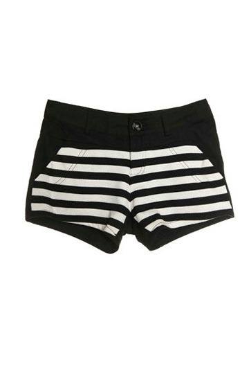 White Straps Cotton Shorts [FJCE0016]- US$ 66.99 - PersunMall.com