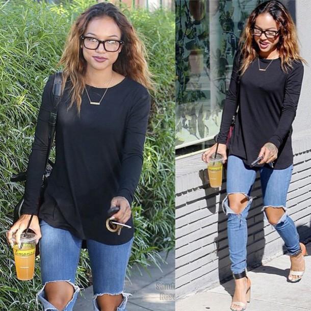 jeans blouse jewels