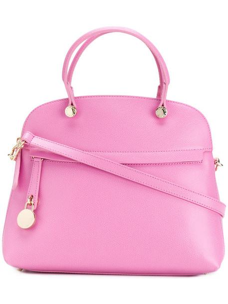 Furla - Piper tote - women - Leather/Viscose/Nylon - One Size, Pink/Purple, Leather/Viscose/Nylon
