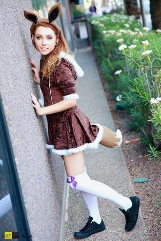 dress brown dress velvet dress