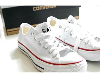 shoes white white converse white shoes red blue converse converse low tops converse low rise multi colored