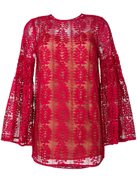 MICHAEL Michael Kors top lace top women layered lace red
