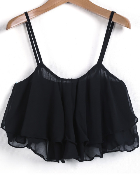 Lacia Ruffle Crop Top   Outfit Made