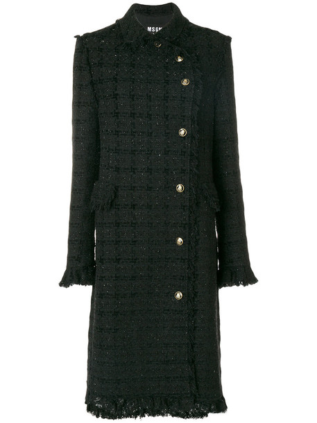 MSGM coat women classic cotton black wool