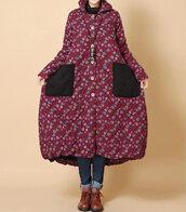 coat,winter coat,long padded coat