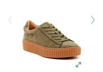 shoes sneakers platform shoes felt velvet creeper puma suede creeper