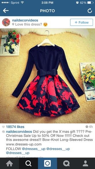 dress black red dress roses black dress red