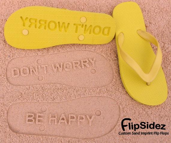 Custom Sand Imprint Flip Flops by FlipSideFlipFlops on Etsy