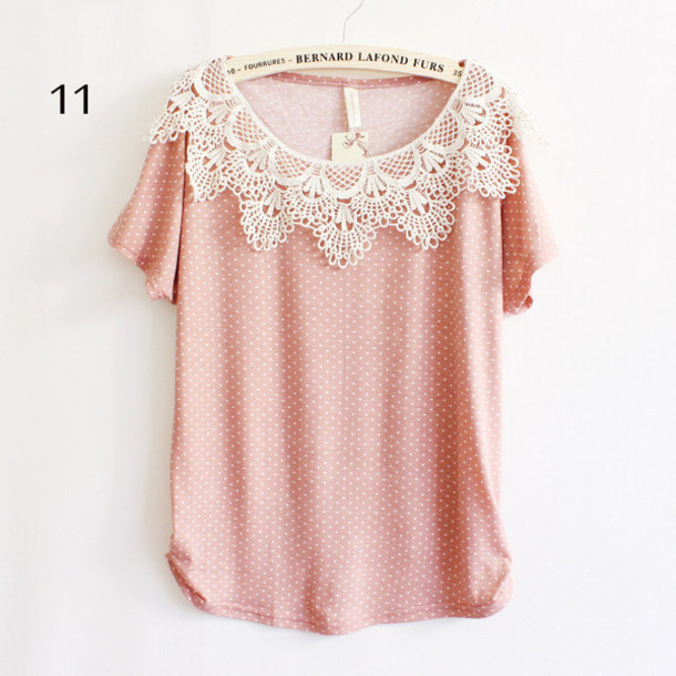 blouse pink points sleeves