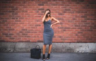 dress grey dress fashion