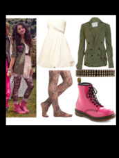 dress,coat,green,jacket,zendaya,bae,DrMartens,flowers