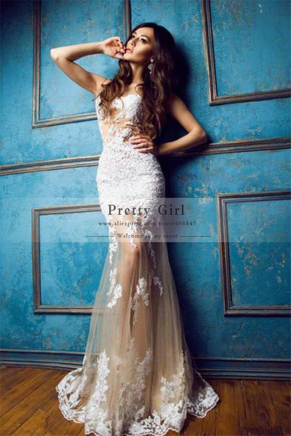 Aliexpress.com : buy modest halter julie vino beading appliques lace high slit beach wedding dress sexy backless wedding gown vestido de noiva cheap from reliable dress plaid suppliers on pretty girl trade co., ltd