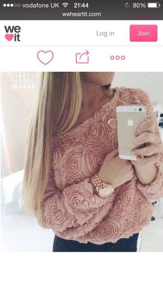 sweater clothes roses shoes