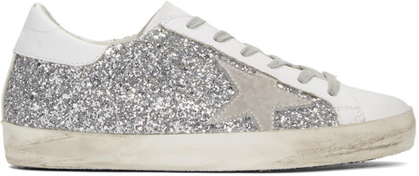 Golden goose sneakers silver shoes