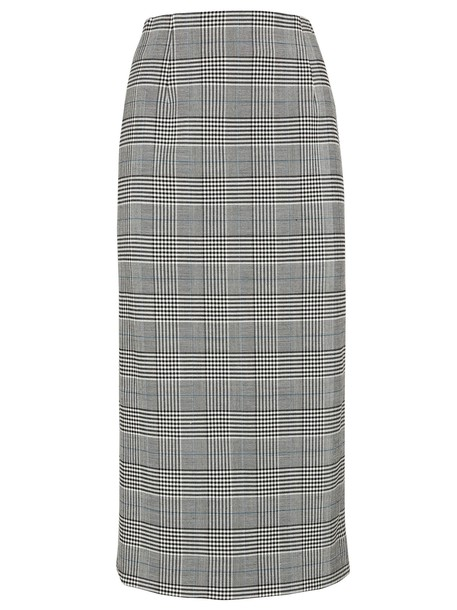 Victoria Beckham skirt plaid pattern white