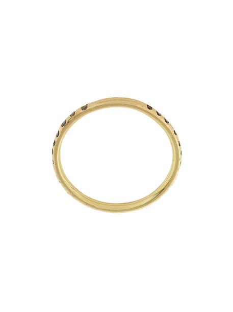 LARA MELCHIOR women ring gold grey metallic jewels