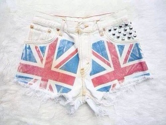 shorts rebel flag studded shorts white shorts