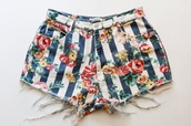 shoes,shorts,flowered shorts,summer,vintage,roses,floral tank top