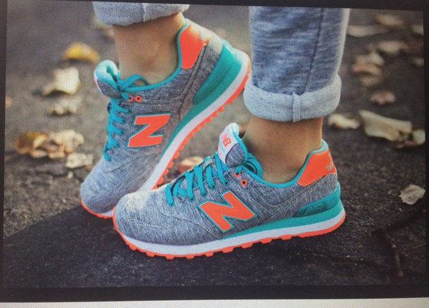 aa6fdc78ac986 shoes new balance orange grey turquoise blue new balance 574 grey melange