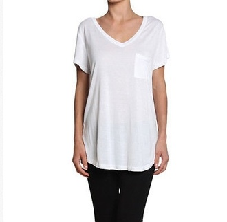 blouse white t-shirt