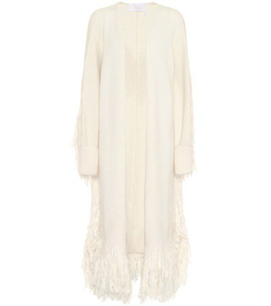 Chloe cardigan cardigan wool white sweater