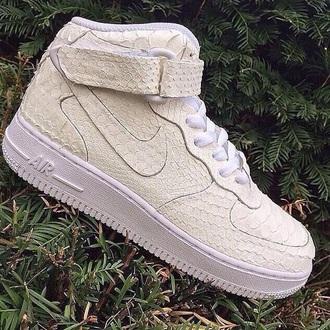 snake skin air force ones