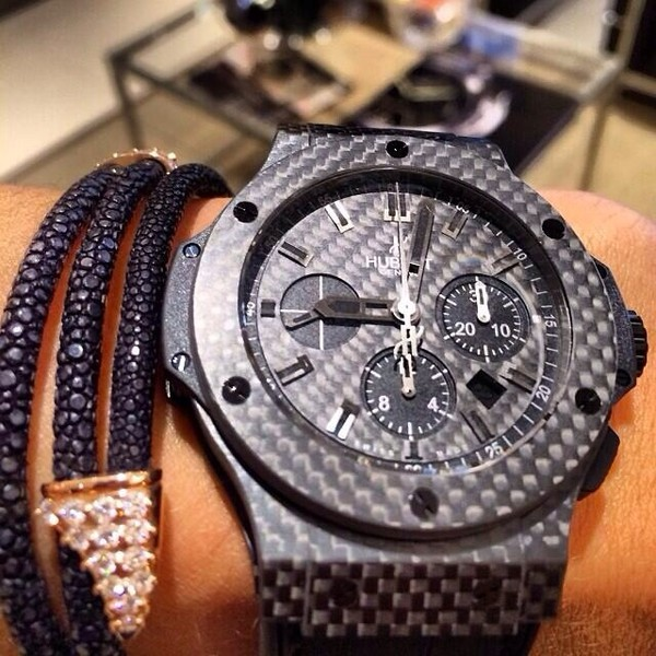 shirt watch hublot black