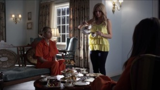 top yellow yellow top layered top ruffle ruffle top singlet alison delaurentis pretty little liars