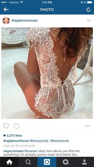 jumpsuit bossysnob lace lingerie lace romper sexy lingerie dress lace dress white lace dress romper lingerie