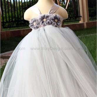 grey dress dress flower girl dress 2014 flower girl dress