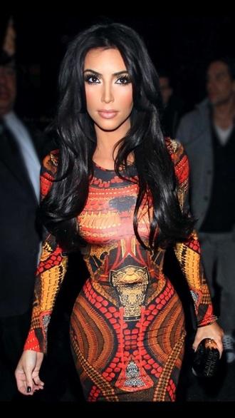 dress aztec kim kardashian dress