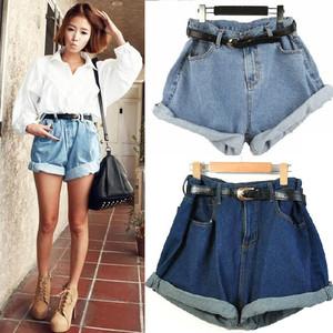 Boyfriend Vintage Fashion Women s Oversize High Waist Jeans Shorts ...