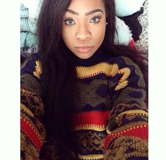 sweater pattern multi colored