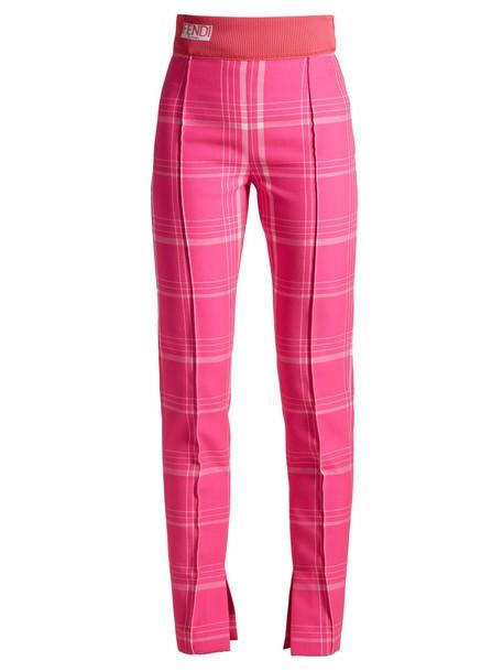 Fendi high pink pants