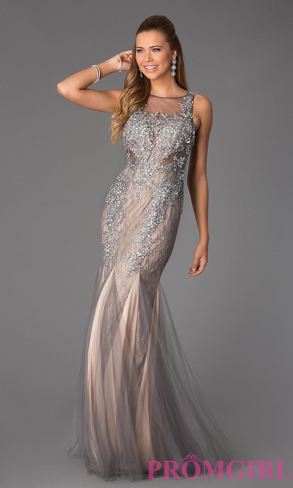 Sleeveless Beaded Lace JVN by Jovani Dress