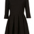 ROMWE | Pleated Zippered Cropped Sleeves Black Dress, The Latest Street Fashion