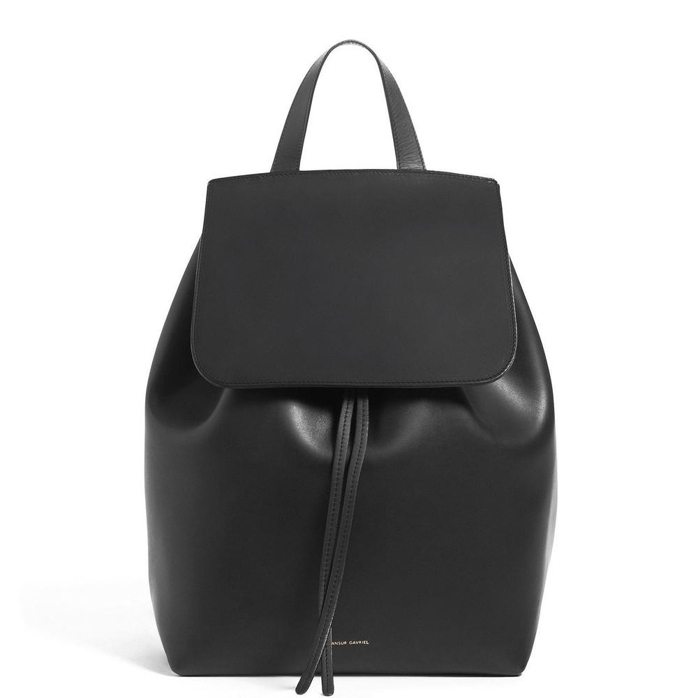 Mansur Gavriel Black Backpack - Raw