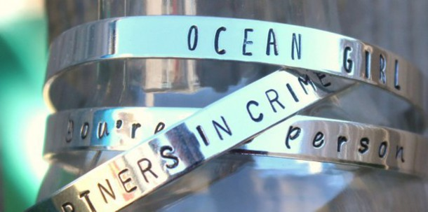 jewels partners in crime partners in crime bracelet ocean girl ocean favorite person silver cuff cuff bracelet spring jewelry spring silver stamped stamped bracelet