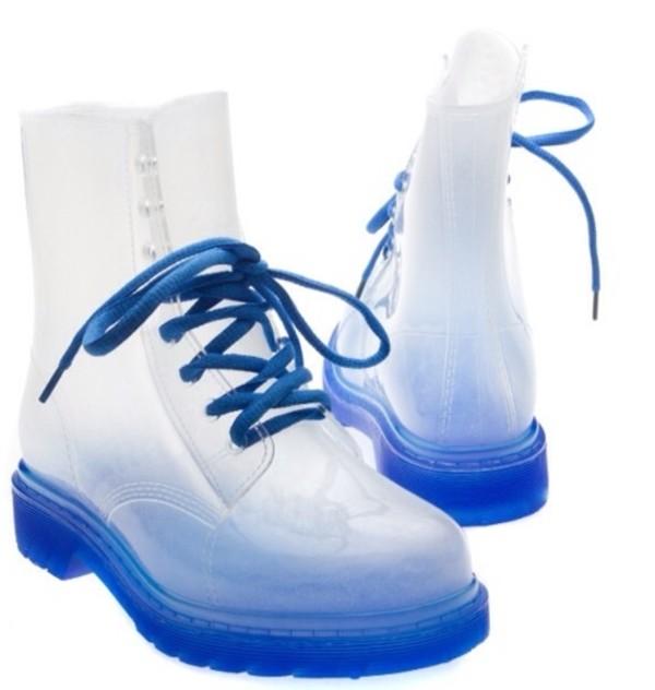 shoes blue clear glass feet glass feet boots glass feet