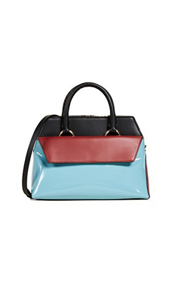 Diane Von Furstenberg satchel black aqua bag