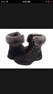 black,ugg boots,snow boots,duck boots,shoes