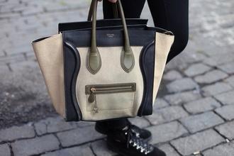 bag celine cream black monochrome