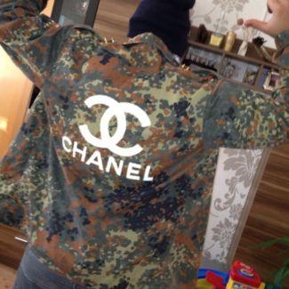 chanel army jacke hemd nieten designer kayone ebay. Black Bedroom Furniture Sets. Home Design Ideas
