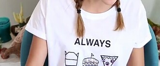 t-shirt white t-shirt food